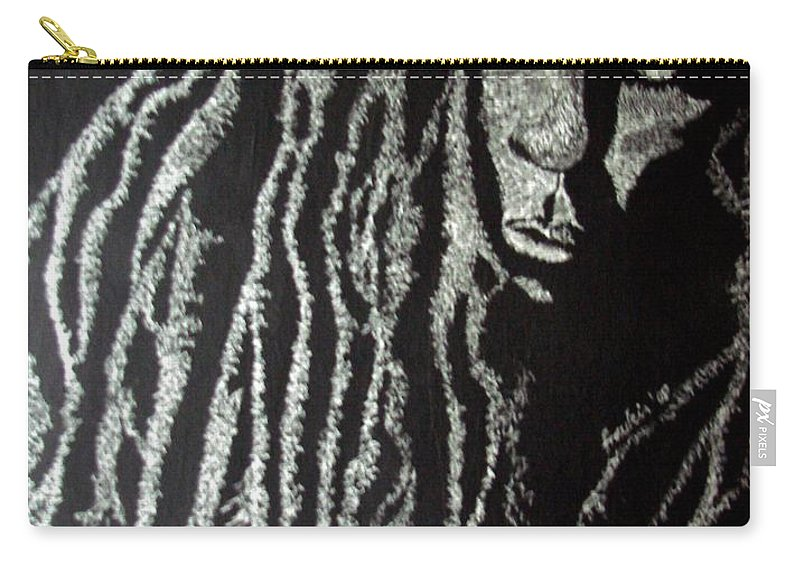 Portrait Carry-all Pouch featuring the painting Art Of Freedom by Glory Fraulein Wolfe