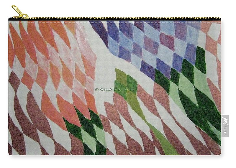 Stretch Your Imagination Carry-all Pouch featuring the painting Art by Sonali Gangane