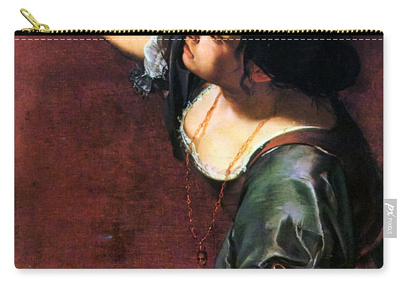 Artemisia Carry-all Pouch featuring the photograph Artemisia Gentileschi by Granger