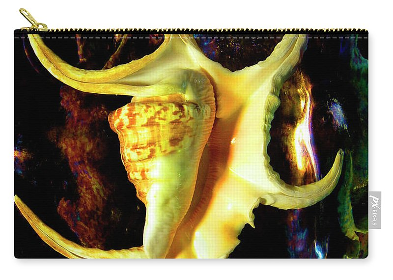 Frank Wilson Carry-all Pouch featuring the photograph Arthritic Spider Conch Seashell by Frank Wilson