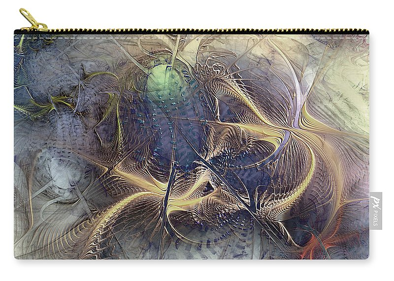 Abstract Carry-all Pouch featuring the digital art Arthropodium by Casey Kotas
