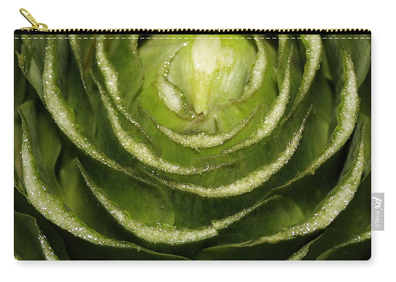 Veggies Carry-all Pouch featuring the photograph Artichoke Close-up by Carol Groenen