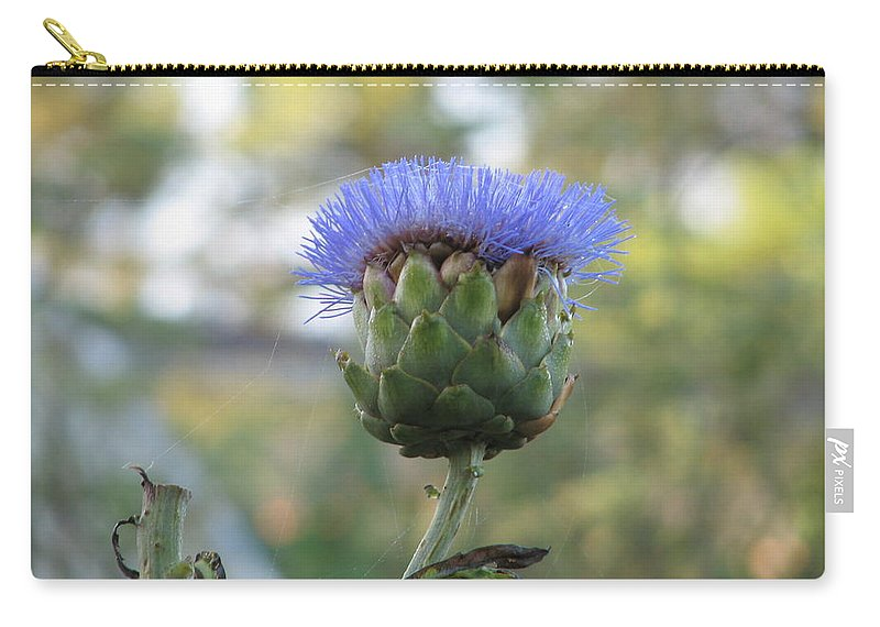 Artichoke Carry-all Pouch featuring the photograph Artichoke by Kelly Mezzapelle