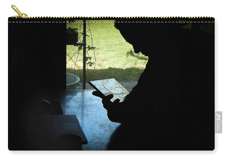 Artist Carry-all Pouch featuring the photograph Artist At Work by Elie Wolf