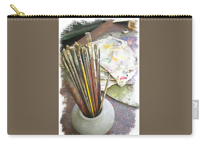 Artist Carry-all Pouch featuring the photograph Artist Brushes by Margie Wildblood