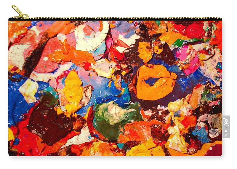 Artist Palette Carry-all Pouch featuring the painting Artist Palette by Natalie Holland