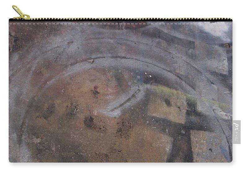 Artist Carry-all Pouch featuring the photograph Artist Sidewalk 1 by Anita Burgermeister