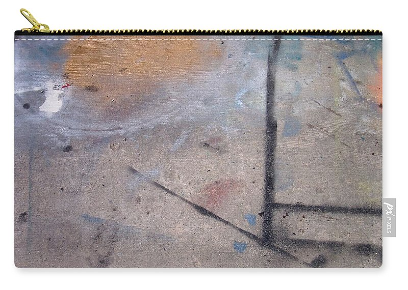 Artist Carry-all Pouch featuring the photograph Artist Sidewalk 2 by Anita Burgermeister