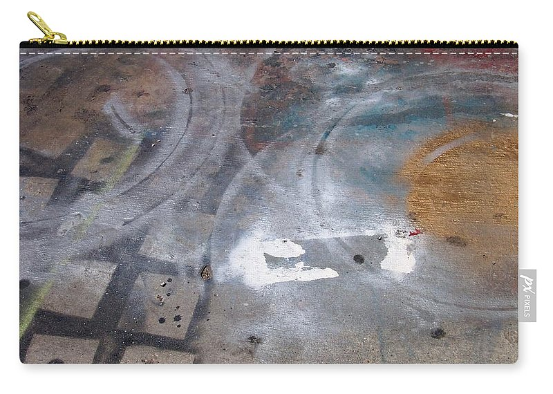 Artist Carry-all Pouch featuring the photograph Artist Sidewalk 3 by Anita Burgermeister