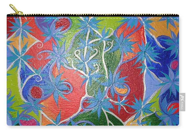 Symbol Carry-all Pouch featuring the painting Artistic Acomplishments by Joanna Pilatowicz