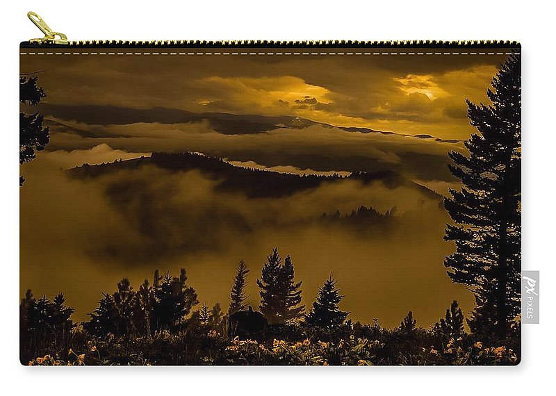 Carry-all Pouch featuring the photograph Artistic Apex by Dan Hassett