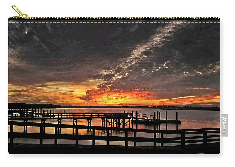 Sunset Carry-all Pouch featuring the photograph Artistic Black Sunset by Phill Doherty