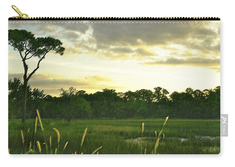 Sunrise Carry-all Pouch featuring the photograph Artistic Lush Marsh by Phill Doherty