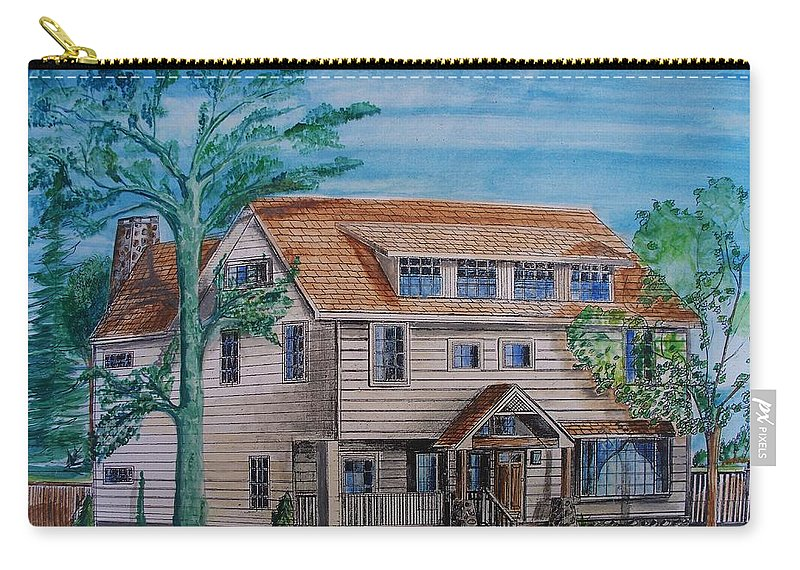 Arts And Crafts Style Carry-all Pouch featuring the painting Arts And Crafts Style by Eric Schiabor