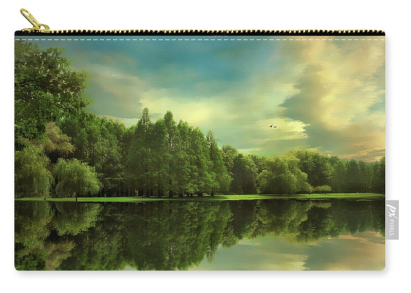 Landscape Carry-all Pouch featuring the photograph Summer Reflections by Jessica Jenney