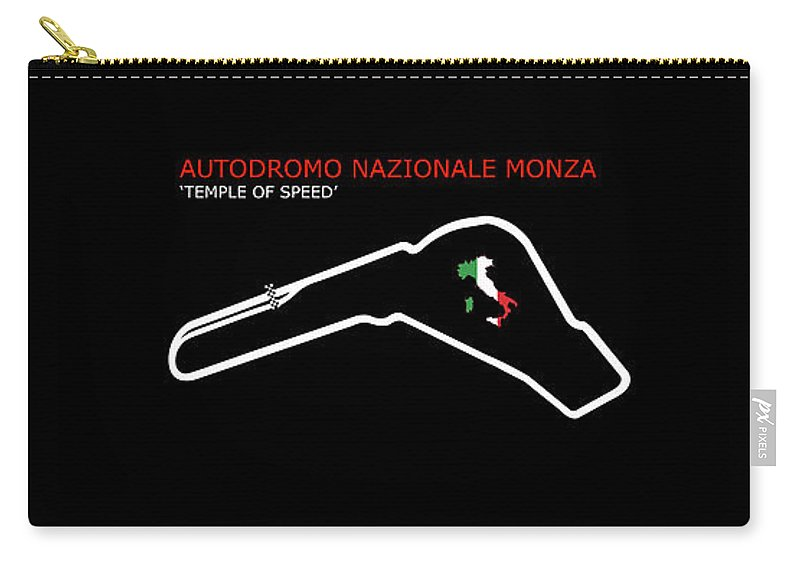 Monza Carry-all Pouch featuring the photograph Autodromo Nazionale Monza by Mark Rogan