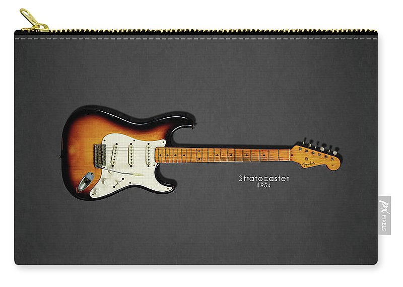 Fender Stratocaster Carry-all Pouch featuring the photograph Fender Stratocaster 54 by Mark Rogan