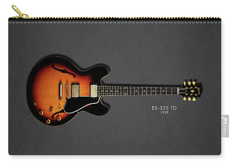 Gibson Es335 Carry-all Pouch featuring the photograph Gibson Es 335 1959 by Mark Rogan