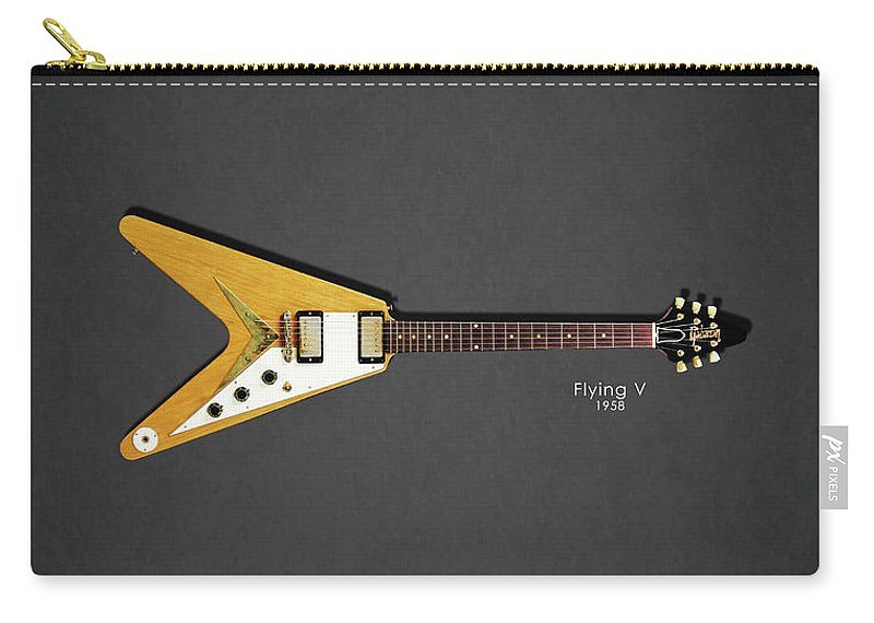 Gibson Flying V Carry-all Pouch featuring the photograph Gibson Flying V by Mark Rogan