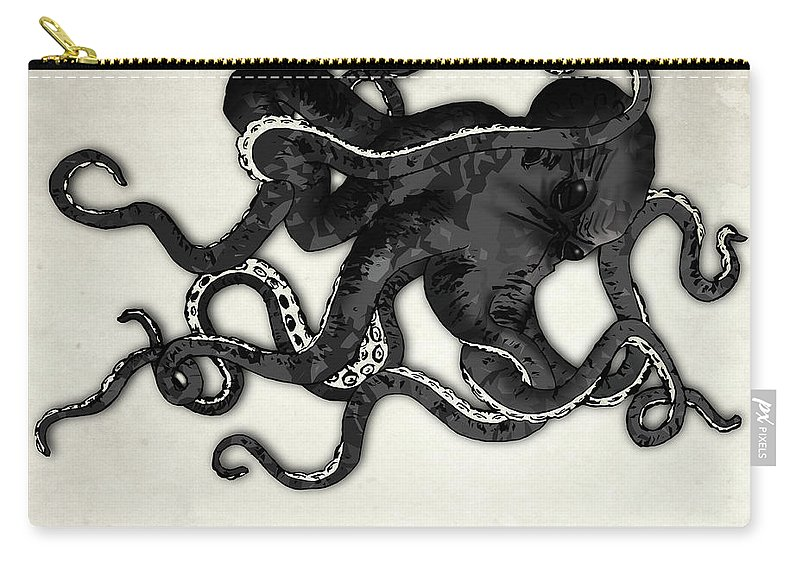 Sea Carry-all Pouch featuring the digital art Octopus by Nicklas Gustafsson