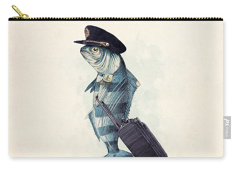 Pilot Carry-all Pouch featuring the digital art The Pilot by Eric Fan