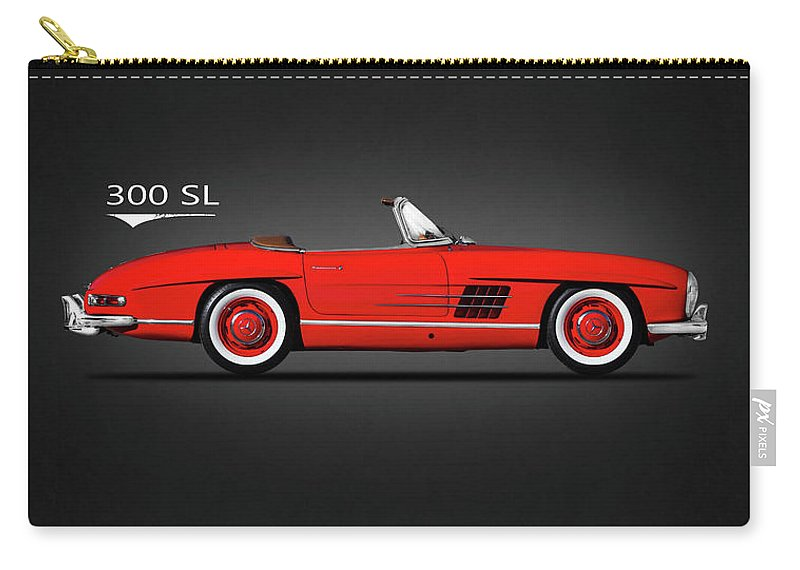 Mercedes Benz 300sl Carry-all Pouch featuring the photograph Mercedes Benz 300sl by Mark Rogan