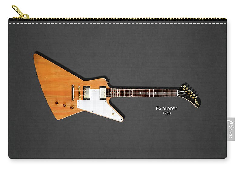 Gibson Explorer Carry-all Pouch featuring the photograph Gibson Explorer 1958 by Mark Rogan