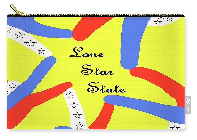 Texas Carry-all Pouch featuring the painting Lone Star State by Eloise Schneider Mote