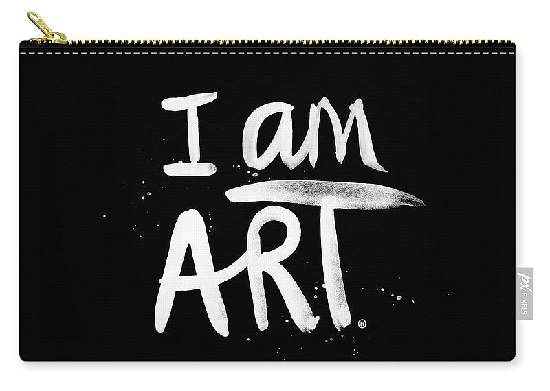 I Am Art Carry-all Pouch featuring the mixed media I Am Art- Painted by Linda Woods