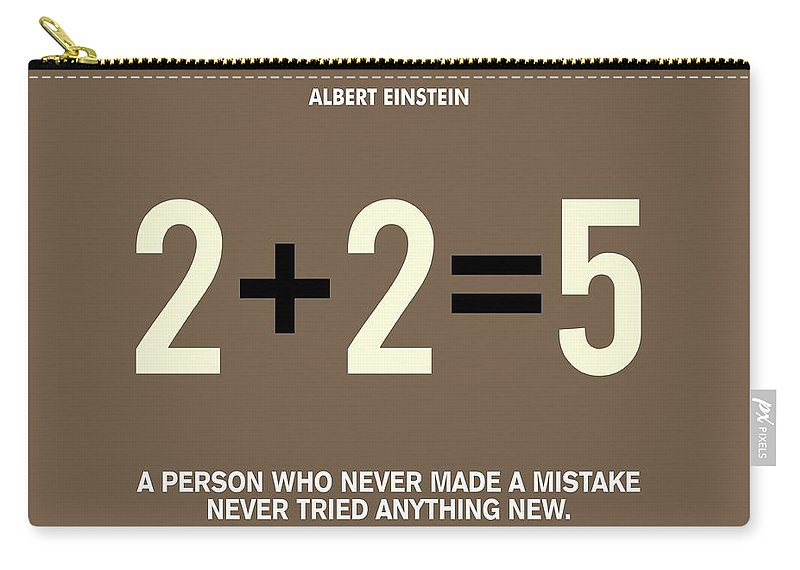 Life Motivating Quote By Albert Einstein Quotes Poster Carryall Magnificent Life Quote Poster