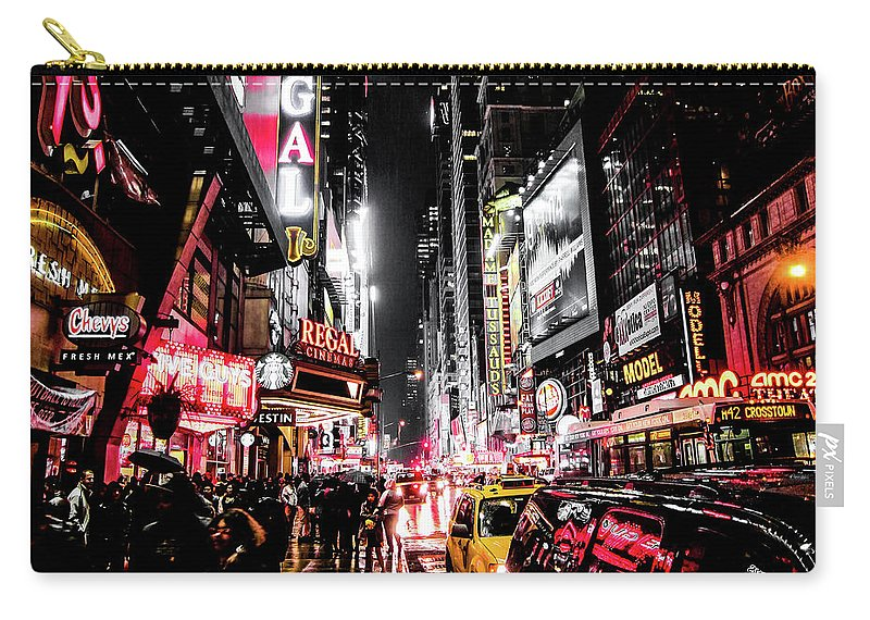 Newyork Carry-all Pouch featuring the photograph New York City Night II by Nicklas Gustafsson