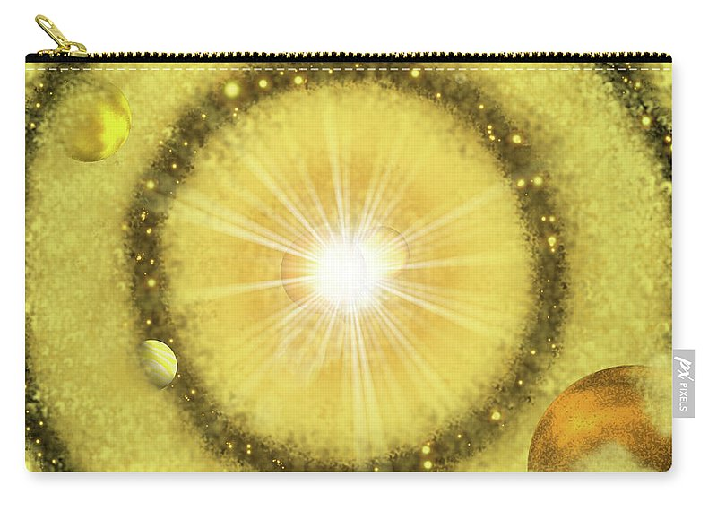 My Golden Universe Carry-all Pouch featuring the painting My Golden Universe by Methune Hively