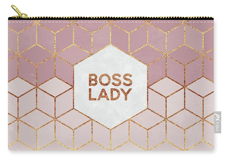 Graphic Carry-all Pouch featuring the digital art Boss Lady by Elisabeth Fredriksson