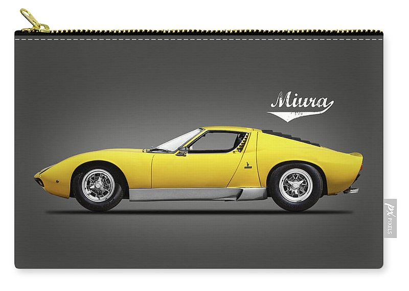 Lamborghini Miura Sv Carry-all Pouch featuring the photograph The Miura Sv 1972 by Mark Rogan