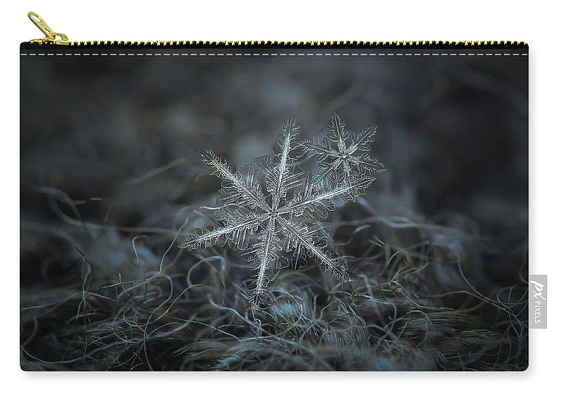 Snowflake Carry-all Pouch featuring the photograph Stars In My Pocket Like Grains Of Sand by Alexey Kljatov