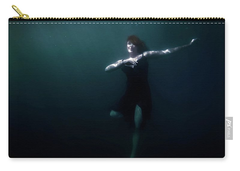 Underwater Carry-all Pouch featuring the photograph Dancing Under The Water by Nicklas Gustafsson
