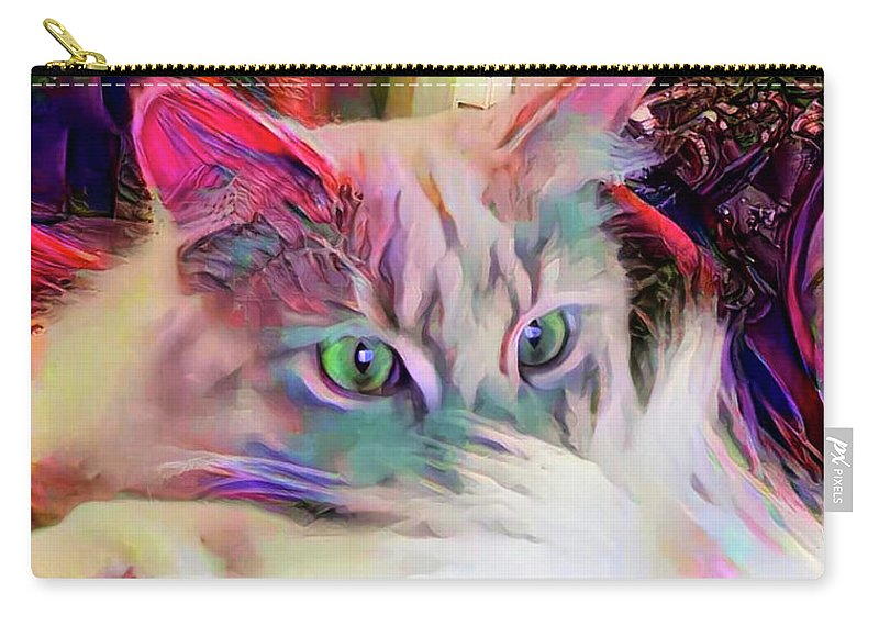 Animals Carry-all Pouch featuring the digital art Dreaming Of A Sunny Spot by Bunny Clarke