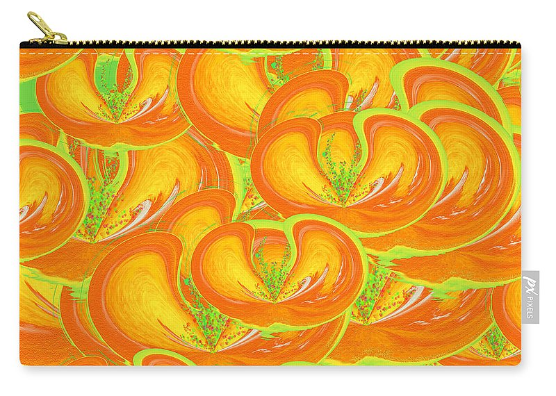 Juicy Fruit Carry-all Pouch featuring the painting Juicy Fruit by Methune Hively