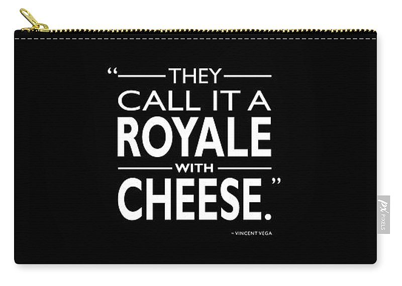 Royale With Cheese Carry-all Pouch featuring the photograph A Royale With Cheese by Mark Rogan