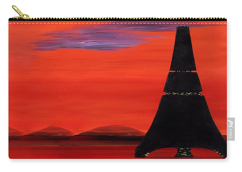 Mars Carry-all Pouch featuring the painting My Life On Mars #1 by Eric Bangle