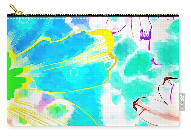 Jesus Carry-all Pouch featuring the digital art You Are A Child Of God Now by Payet Emmanuel