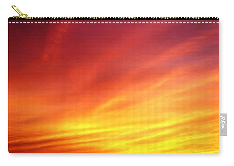 Revelations 20:14 Carry-all Pouch featuring the photograph Fire Next Time by Felicia Wallace