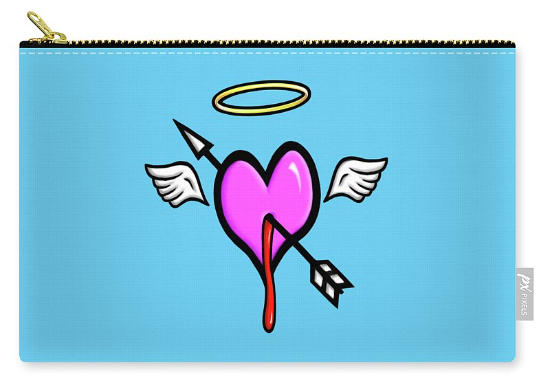 Cupid Carry-all Pouch featuring the digital art Cupids Heart by Andre Koekemoer