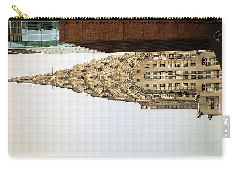 Buildings Carry-all Pouch featuring the photograph Chrysler Building by John Schneider