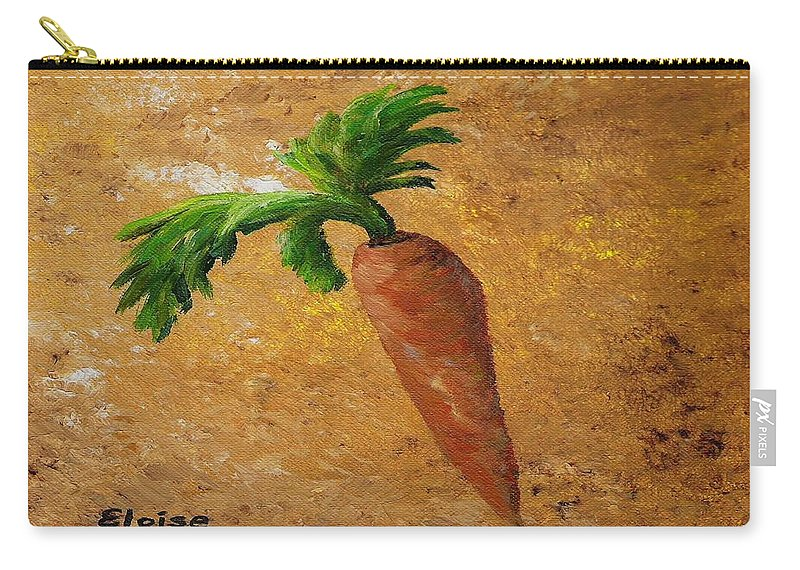 Carrot Carry-all Pouch featuring the painting Rabbit Snack by Eloise Schneider Mote