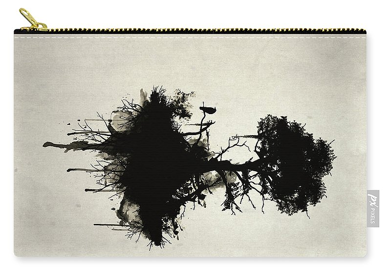 Nature Carry-all Pouch featuring the painting Last Tree Standing by Nicklas Gustafsson