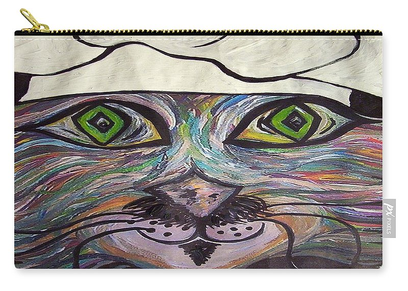 Professional Carry-all Pouch featuring the painting Chef Pierre ... A Cat With Good Taste by Eloise Schneider