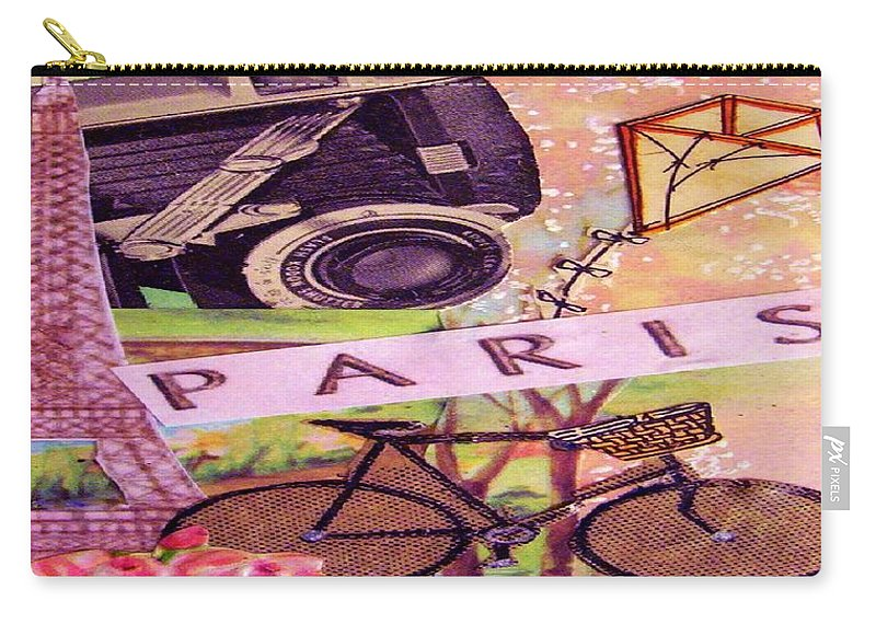Paris Carry-all Pouch featuring the drawing Paris by Eloise Schneider Mote
