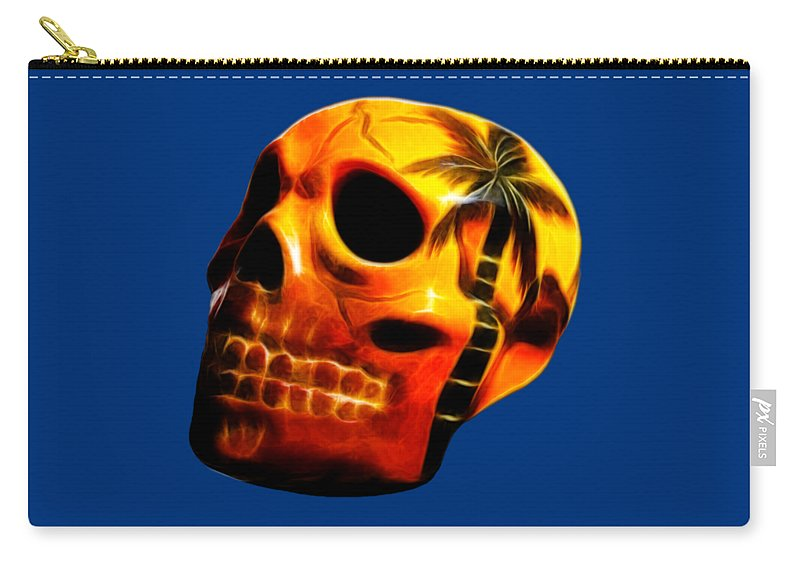 Skull Carry-all Pouch featuring the photograph Glowing Skull by Shane Bechler
