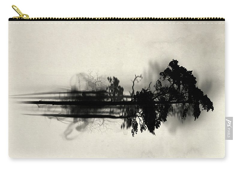 Forest Carry-all Pouch featuring the painting Enchanted Forest by Nicklas Gustafsson